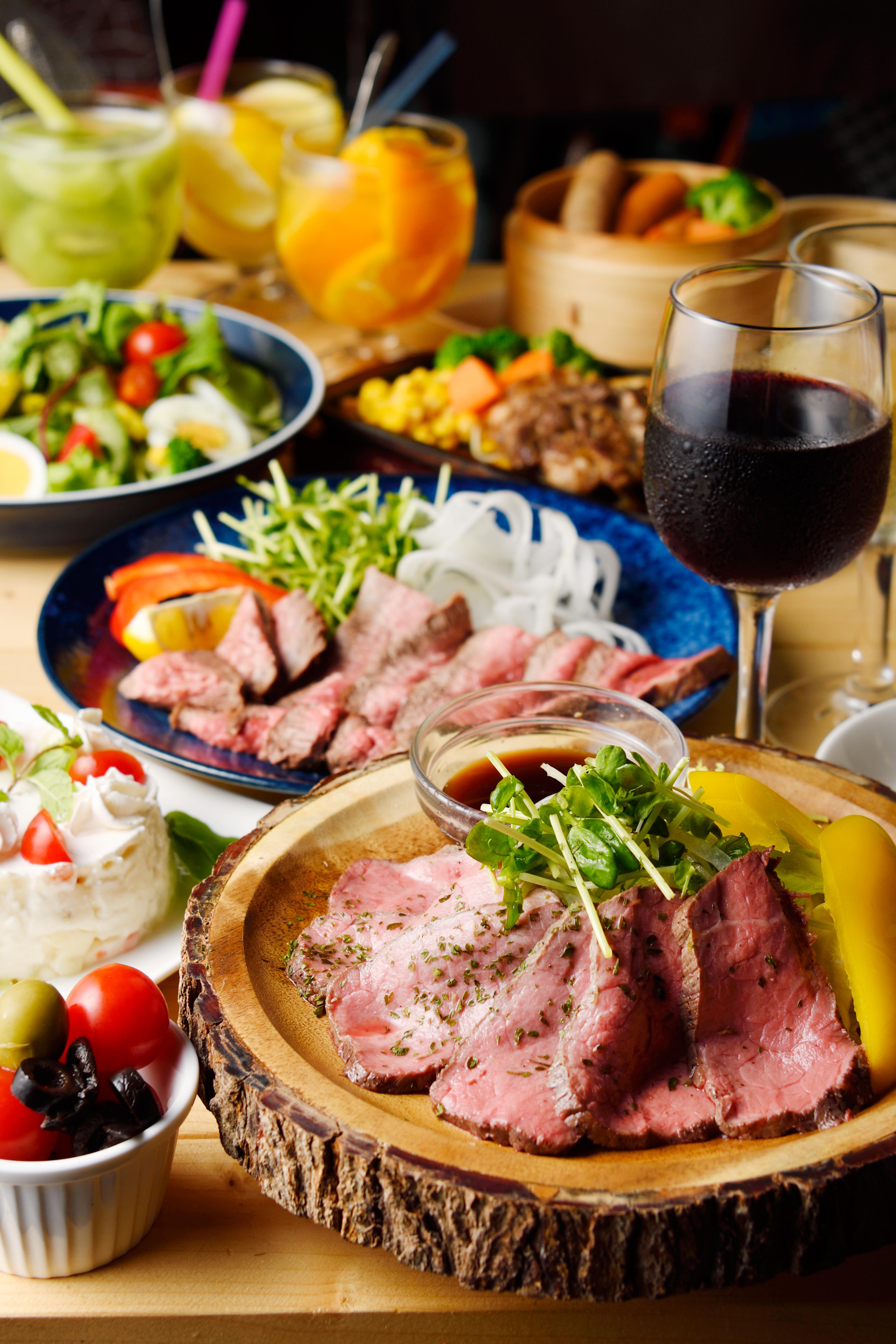 肉菜料理とワイン