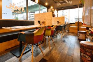 飛沫対策バッチリ、安心な食空間