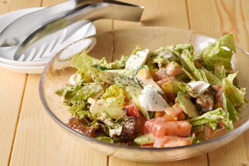 明太子とマスカルポーネのサラダ