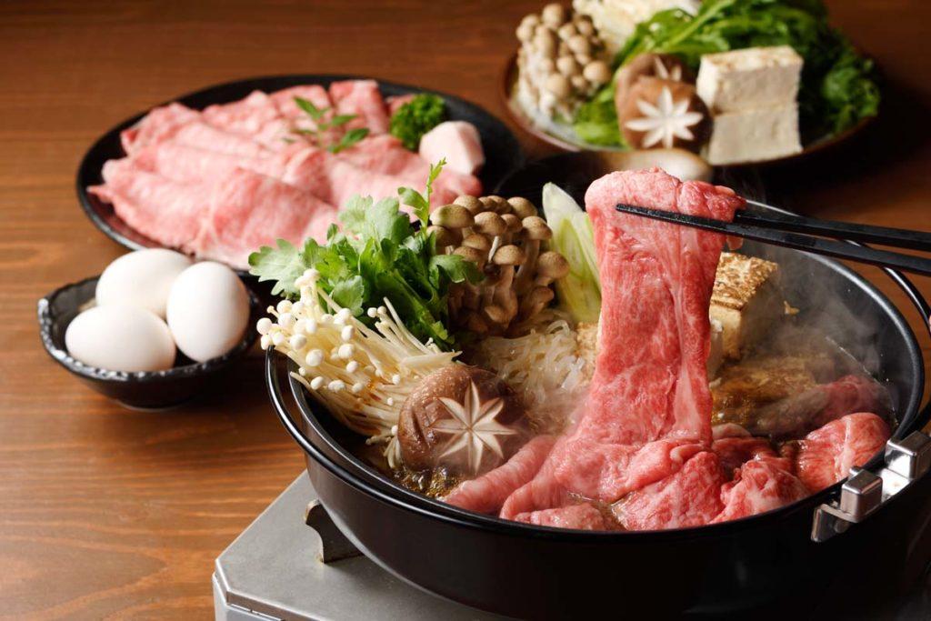 かわちどんのお肉ですき焼き